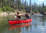 Oak Creek Ranch School is located on seventeen wooded acres fronting Oak Creek near the beautiful red rocks of Sedona, Arizona. Outdoor activities are enjoyed year-round. Here a couple of our boarding school students are enjoying a canoe ride during one of our many beautiful days here at Oak Creek!