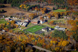 Aerial view of the Lincoln Academy campus.