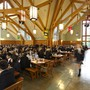 Shawnigan Lake School Photo - The entire school gathers daily for sit-down meals in Marion Hall. This architecturally stunning facility allows for students and staff to share a family-style dining experience.