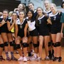 Maui Preparatory Academy Photo #4 - Our Varsity Girls Starting Volleyball Team, mugging for the camera with coaches.