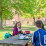St. Bernard Preparatory School Photo #6 - High school students are allowed to enjoy lunch outside, weather permitting, and have a large central quad available for visiting with friends
