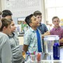 Applewild School Photo #1 - Upper School students participate in challenging courses in English, math, and social studies. They study science through experiential work and collaborative experiments.